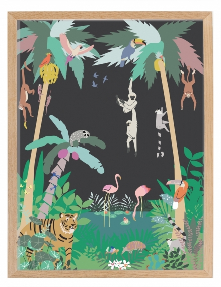 Affiche encadrée Jungle