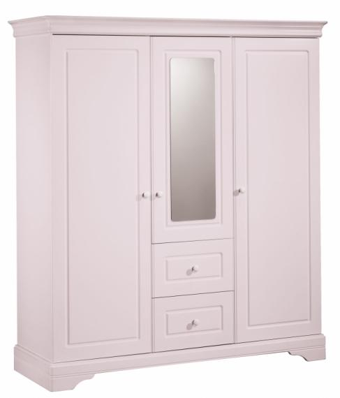 Armoire 3 portes avec miroir elodie sauthon file dans - Armoire chambre avec miroir ...