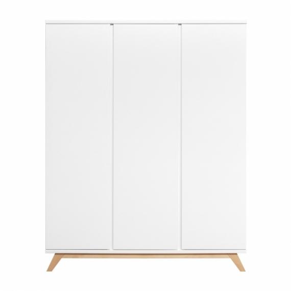 armoire 3 portes lynn sans poign es bopita blanc. Black Bedroom Furniture Sets. Home Design Ideas
