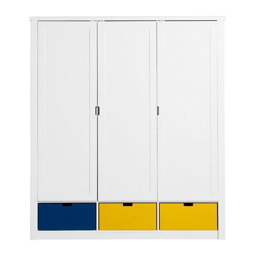 armoire mix et match luxe 3 portes bopita file dans ta chambre. Black Bedroom Furniture Sets. Home Design Ideas