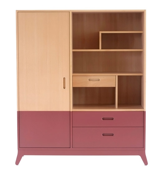 armoire enfant rouge simple cdiscount armoire penderie. Black Bedroom Furniture Sets. Home Design Ideas