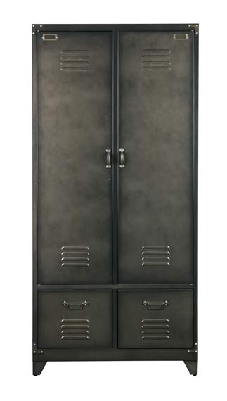 armoire vintage metal nordic factory file dans ta chambre. Black Bedroom Furniture Sets. Home Design Ideas