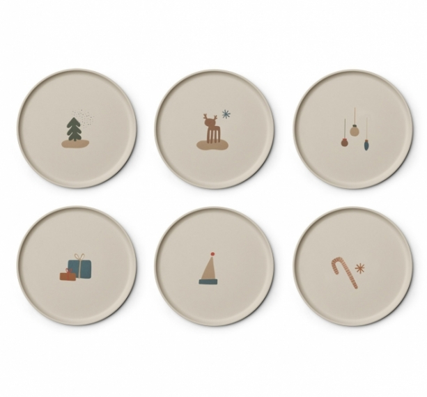 Assiettes Patrick Holiday - Lot de 6