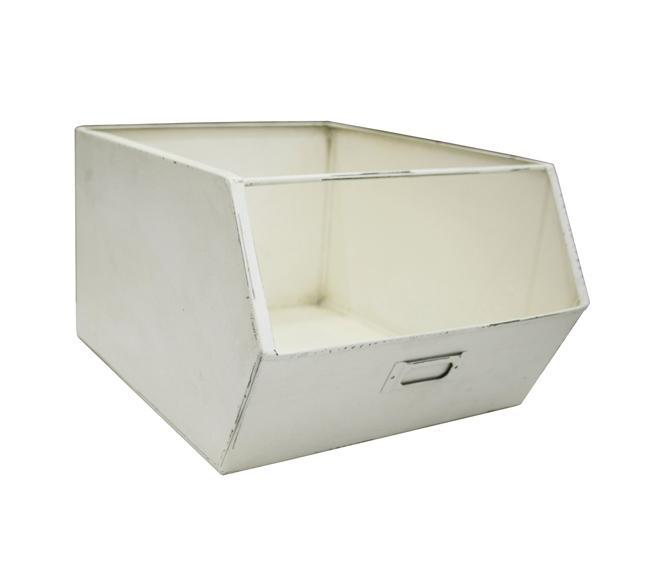 bac de rangement m tal nordic factory blanc file dans ta chambre. Black Bedroom Furniture Sets. Home Design Ideas