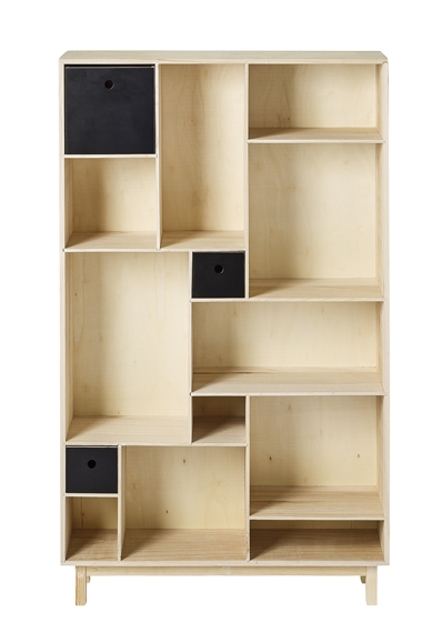 biblioth que bicolore classic bloomingville file dans ta chambre. Black Bedroom Furniture Sets. Home Design Ideas