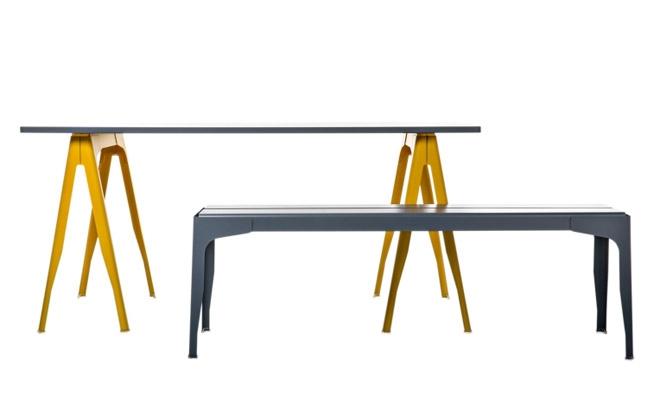 treteaux pour bureau cool ides dco de trteaux pour crer une table ou un bureau bureaus desks. Black Bedroom Furniture Sets. Home Design Ideas