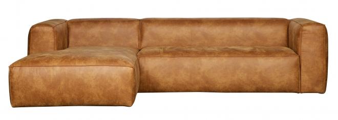 Canapé d'angle gauche Bean Cuir recyclé