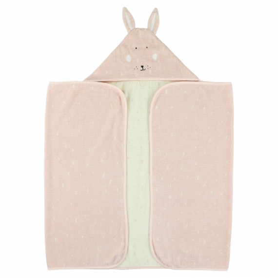 Cape de bain Lapin Mrs Rabbit 70x130