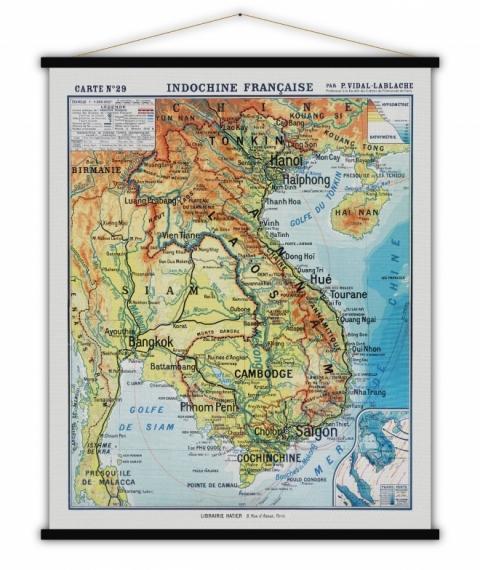 Carte vintage Indochine Française