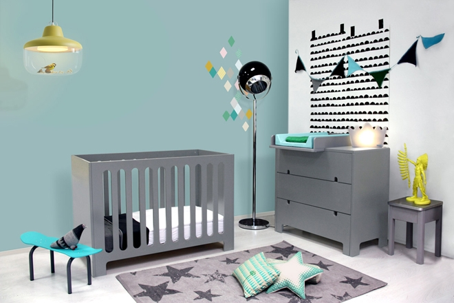 Stunning Chambre Enfant Mur Bleu Gris Contemporary - Design Trends ...