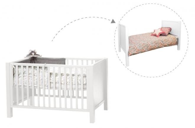 lit b b volutif joy 70x140 quax file dans ta chambre. Black Bedroom Furniture Sets. Home Design Ideas