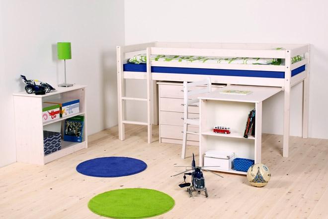 Lit mezzanine mi hauteur avec bureau my blog - Lit en hauteur avec bureau ...
