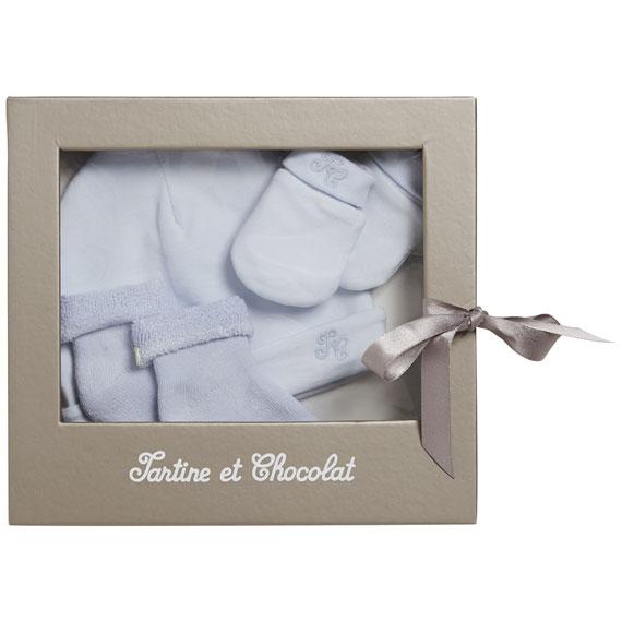 Coffret cadeau de naissance - Bonnet