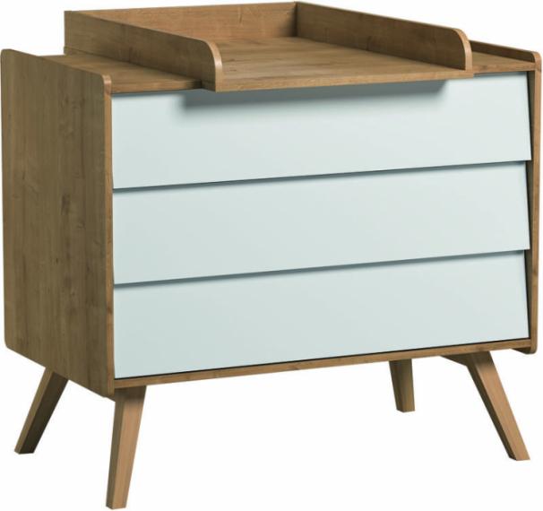 Commode 3 tiroirs Vintage + plan à langer