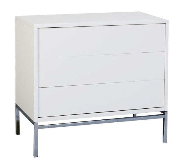 Commode Stretto 3 tiroirs chromé