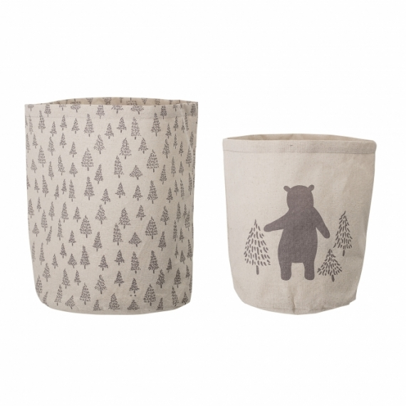 Corbeille de Rangement Ours Bear - Lot de 2