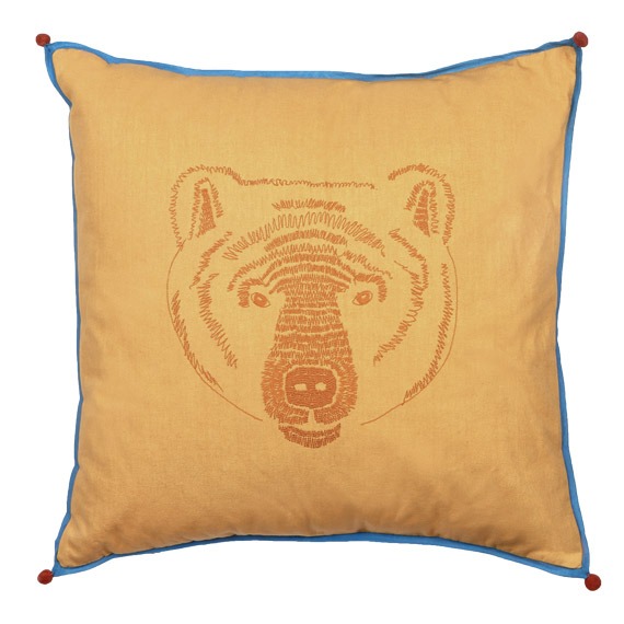 Coussin Tête d'Ours