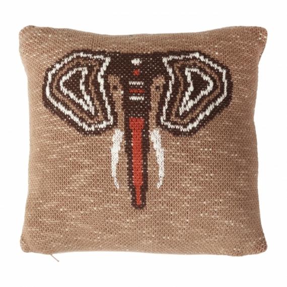 Coussin en tricot Elephant 30x30