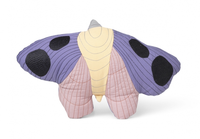Coussin Moth Quilted