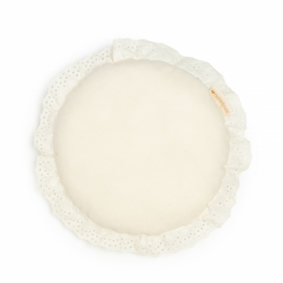 Coussin rond Vera Eyelet Lace