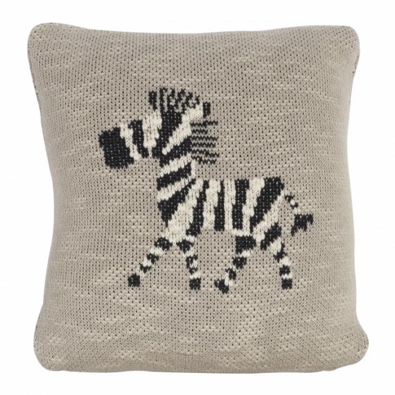 Coussin tricoté Zebra