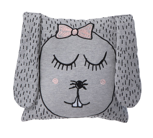 Coussin Little Ms. Rabbit