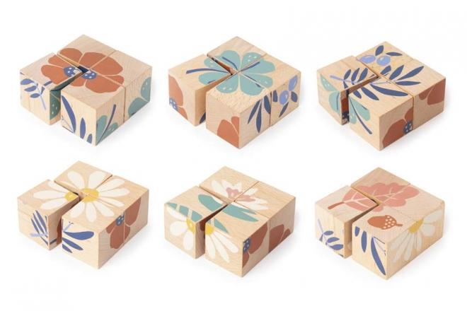 Cubes en bois Plants