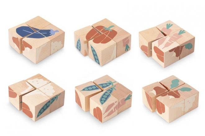 Cubes en bois Veggies