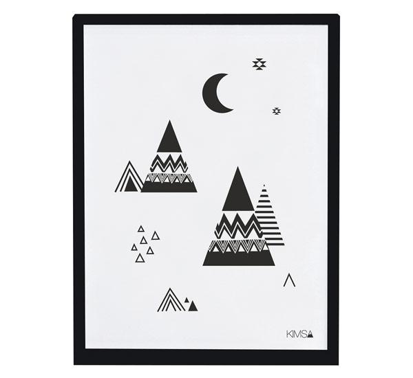 Affiche encadrée Origami Mountain