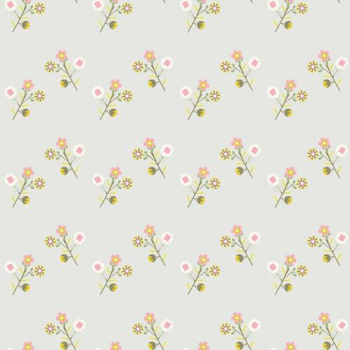 Lé de Papier peint Fleurs Vintage