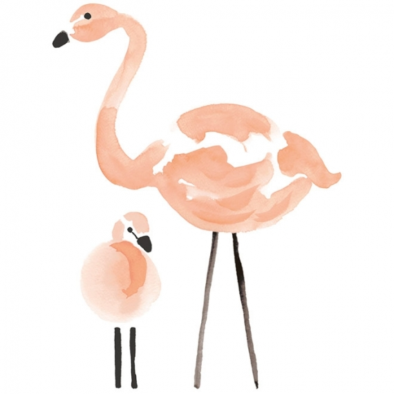 Sticker XL Flamants Roses
