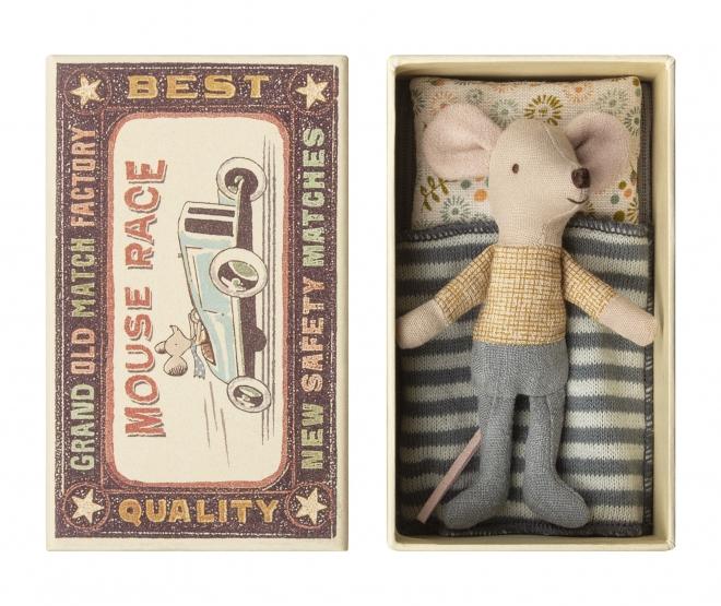 Doudou souris Petit Frère dans sa boîte