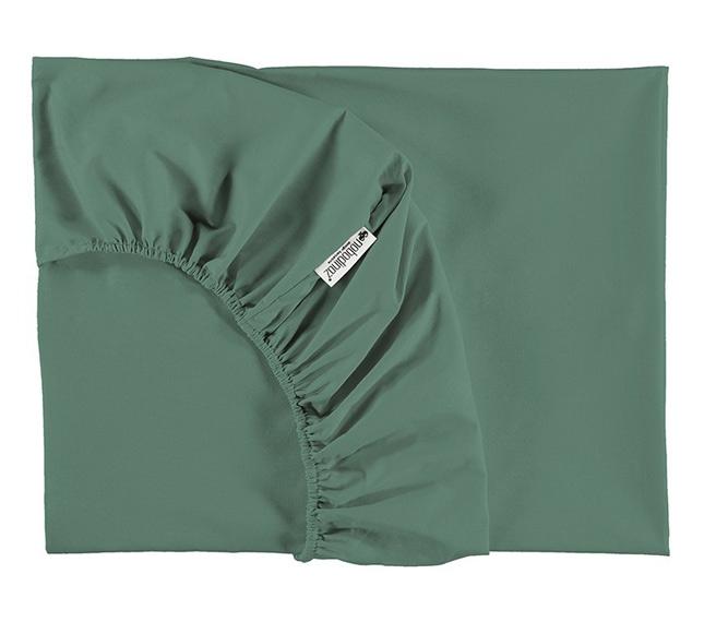 drap housse 90x200 alhambra nobodinoz siesta green file dans ta chambre. Black Bedroom Furniture Sets. Home Design Ideas