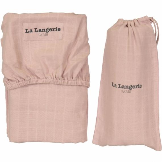 le drap housse 60x120 la langerie la langerie rose poudr file dans ta chambre. Black Bedroom Furniture Sets. Home Design Ideas
