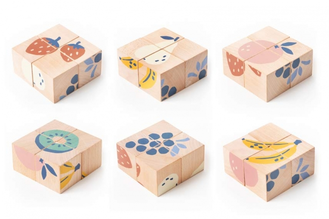 Cubes en bois Fruits