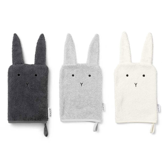 gant de toilette sylvester rabbit lot de 3 liewood file dans ta chambre. Black Bedroom Furniture Sets. Home Design Ideas