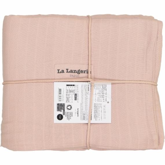 Housse de couette medium 240x200 la langerie la langerie rose poudr file dans ta chambre - Housse de couette rose poudre ...