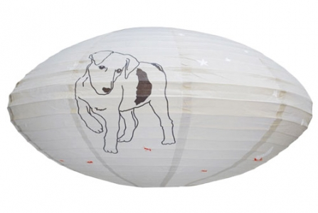 Lampion ovale Chien