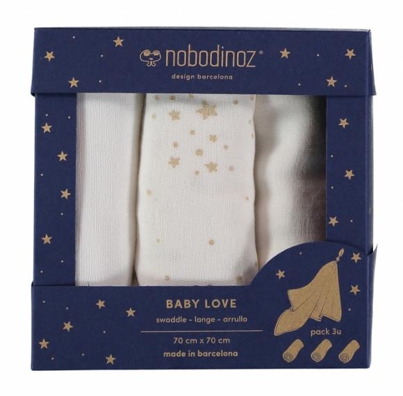 Langes Baby Love 70x70 - Lot de 3