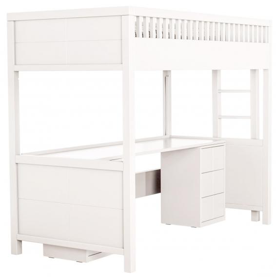 Lit mezzanine quarr avec bureau rabattable quax file dans ta chambre for Bureau rabattable