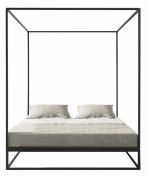 lit asha baldaquin 160x200 xam file dans ta chambre. Black Bedroom Furniture Sets. Home Design Ideas