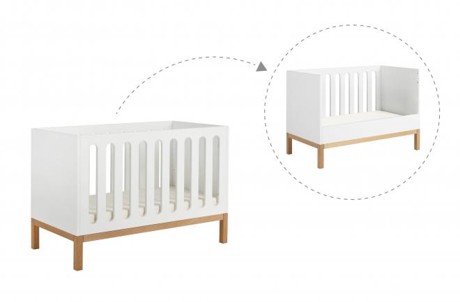 Lit bébé évolutif Indigo 60x120