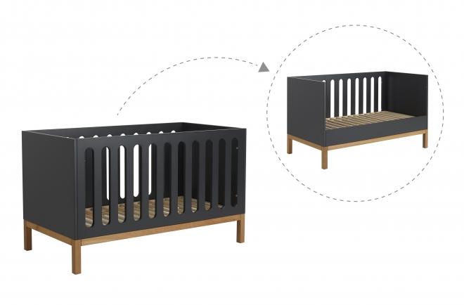 Lit bébé évolutif Indigo 70x140