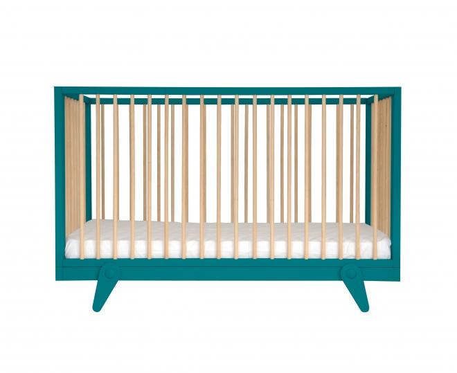 lit b b volutif petit peton 70x140 laurette bleu. Black Bedroom Furniture Sets. Home Design Ideas