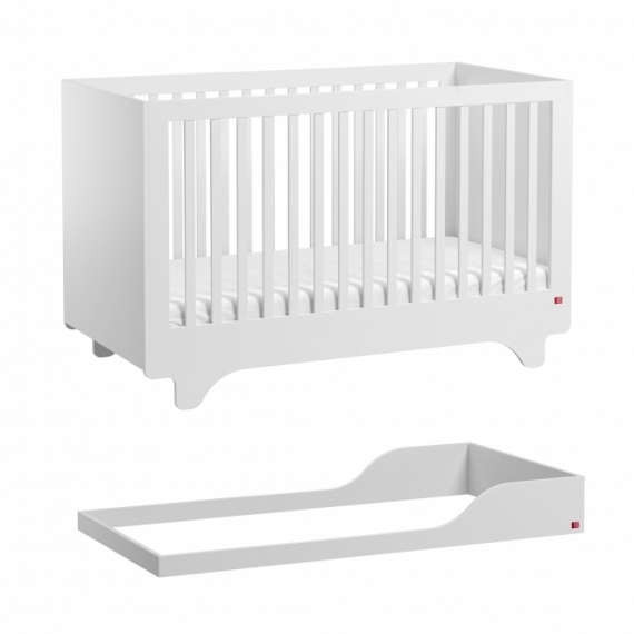 Lit bébé évolutif Playwood 70x140 + kit conversion