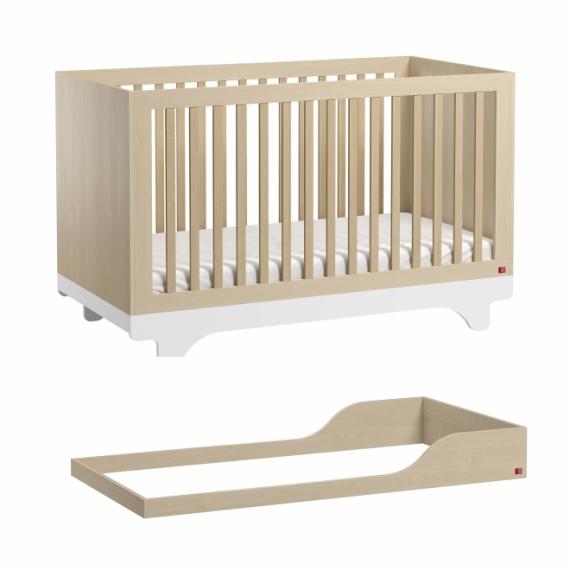 Lit bébé évolutif Playwood 70x140 + kit conversion