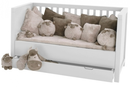 Lit bébé évolutif Quarré avec tiroir lit