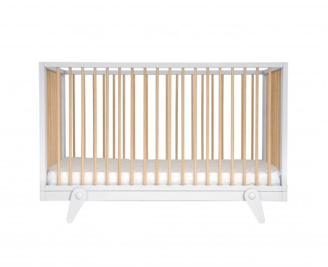 lit b b petit peton 70x140 laurette blanc file dans. Black Bedroom Furniture Sets. Home Design Ideas