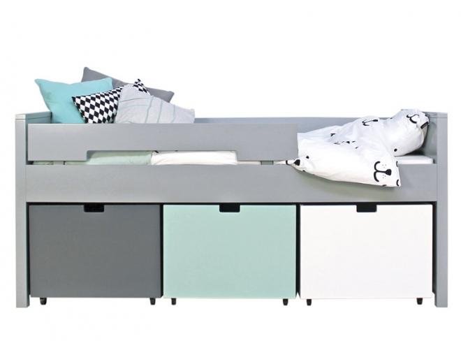 lit enfant mix et match compact bopita blanc file dans ta chambre. Black Bedroom Furniture Sets. Home Design Ideas