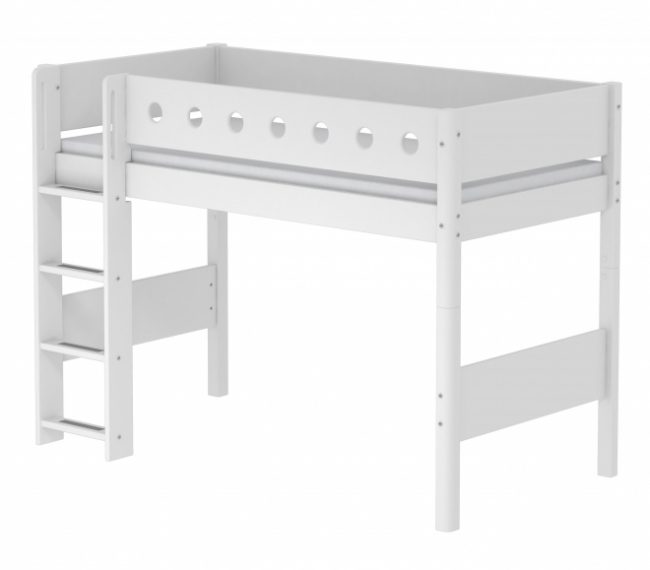 lit mezzanine volutif white 90x190 flexa file dans ta chambre. Black Bedroom Furniture Sets. Home Design Ideas